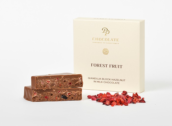 Gianduja Block Hazelnut Forest Fruit (30g)