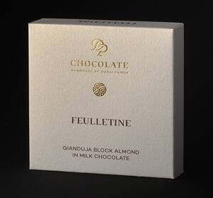 Gianduja Block Almond Feulletine (30g)