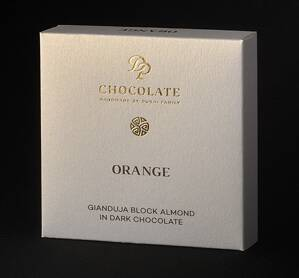 Gianduja Block Almond Orange (30g)